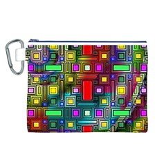 Art Rectangles Abstract Modern Art Canvas Cosmetic Bag (L)