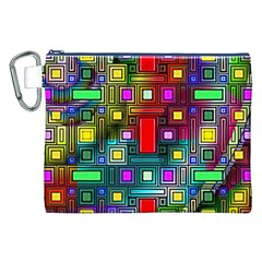 Art Rectangles Abstract Modern Art Canvas Cosmetic Bag (XXL)