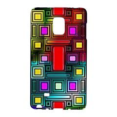 Art Rectangles Abstract Modern Art Galaxy Note Edge