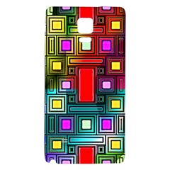 Art Rectangles Abstract Modern Art Galaxy Note 4 Back Case