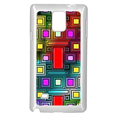 Art Rectangles Abstract Modern Art Samsung Galaxy Note 4 Case (White)