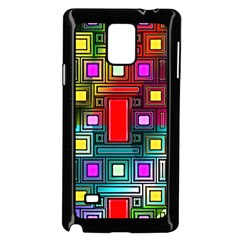 Art Rectangles Abstract Modern Art Samsung Galaxy Note 4 Case (Black)