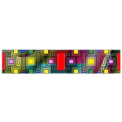 Art Rectangles Abstract Modern Art Flano Scarf (Small)