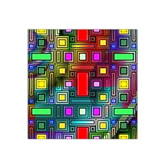 Art Rectangles Abstract Modern Art Satin Bandana Scarf