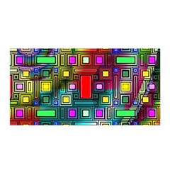 Art Rectangles Abstract Modern Art Satin Wrap