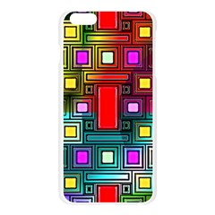 Art Rectangles Abstract Modern Art Apple Seamless iPhone 6 Plus/6S Plus Case (Transparent)