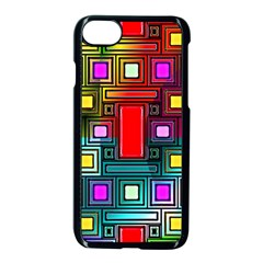 Art Rectangles Abstract Modern Art Apple iPhone 7 Seamless Case (Black)