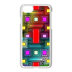 Art Rectangles Abstract Modern Art Apple iPhone 7 Seamless Case (White)
