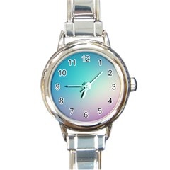 Background Blurry Template Pattern Round Italian Charm Watch