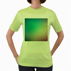 Background Blurry Template Pattern Women s Green T-Shirt