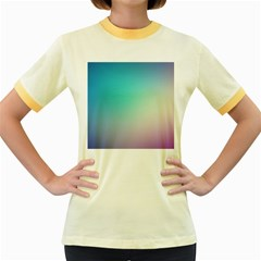 Background Blurry Template Pattern Women s Fitted Ringer T-Shirts