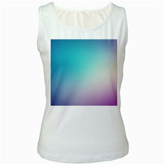 Background Blurry Template Pattern Women s White Tank Top