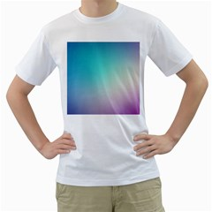 Background Blurry Template Pattern Men s T-Shirt (White) (Two Sided)