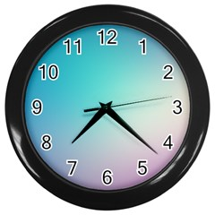 Background Blurry Template Pattern Wall Clocks (Black)