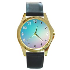 Background Blurry Template Pattern Round Gold Metal Watch