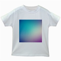 Background Blurry Template Pattern Kids White T-Shirts