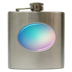 Background Blurry Template Pattern Hip Flask (6 oz)