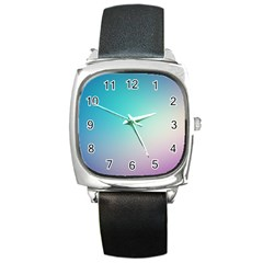 Background Blurry Template Pattern Square Metal Watch