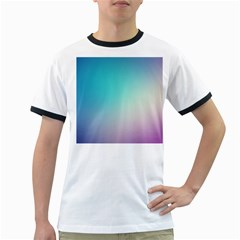 Background Blurry Template Pattern Ringer T-Shirts