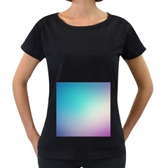 Background Blurry Template Pattern Women s Loose-Fit T-Shirt (Black)