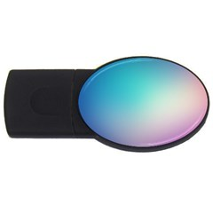 Background Blurry Template Pattern USB Flash Drive Oval (4 GB)