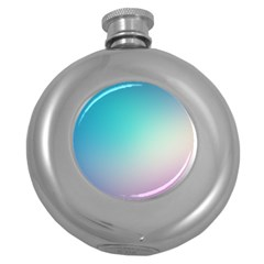 Background Blurry Template Pattern Round Hip Flask (5 oz)