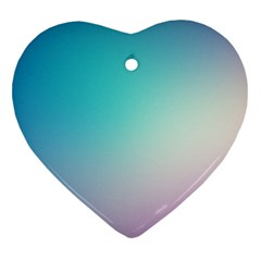 Background Blurry Template Pattern Heart Ornament (2 Sides)
