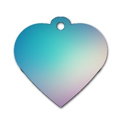 Background Blurry Template Pattern Dog Tag Heart (Two Sides)