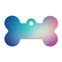 Background Blurry Template Pattern Dog Tag Bone (Two Sides)