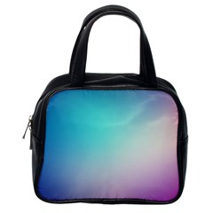 Background Blurry Template Pattern Classic Handbags (One Side)