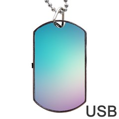 Background Blurry Template Pattern Dog Tag USB Flash (Two Sides)