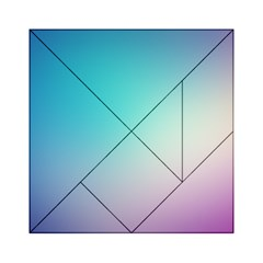 Background Blurry Template Pattern Acrylic Tangram Puzzle (6  x 6 )