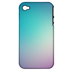 Background Blurry Template Pattern Apple iPhone 4/4S Hardshell Case (PC+Silicone)
