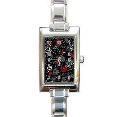 Red mind Rectangle Italian Charm Watch