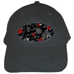 Red mind Black Cap