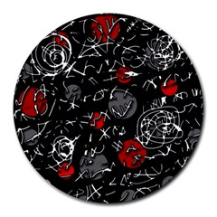 Red mind Round Mousepads