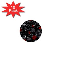 Red mind 1  Mini Buttons (10 pack)