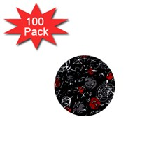 Red mind 1  Mini Buttons (100 pack)