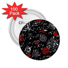 Red mind 2.25  Buttons (100 pack)
