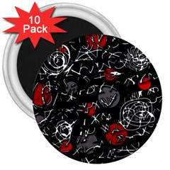 Red mind 3  Magnets (10 pack)