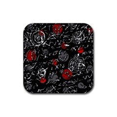 Red mind Rubber Coaster (Square)