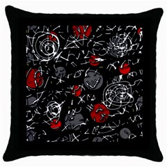 Red mind Throw Pillow Case (Black)