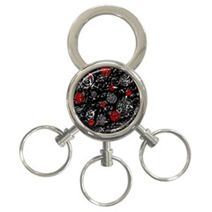 Red mind 3-Ring Key Chains