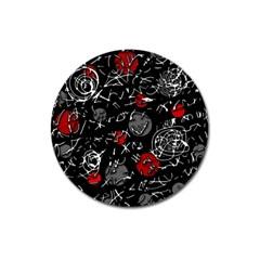 Red mind Magnet 3  (Round)