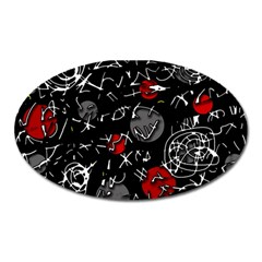 Red mind Oval Magnet