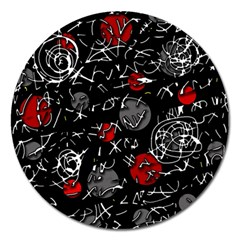Red mind Magnet 5  (Round)