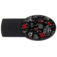 Red mind USB Flash Drive Oval (2 GB)