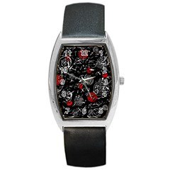 Red mind Barrel Style Metal Watch