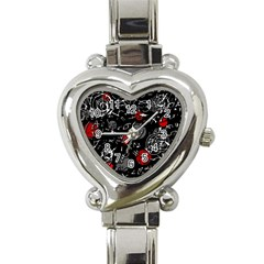 Red mind Heart Italian Charm Watch