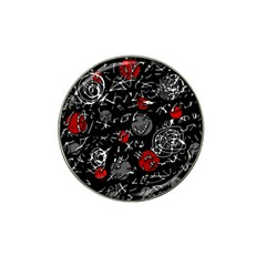 Red mind Hat Clip Ball Marker (4 pack)